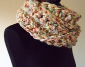 RESERVED FOR DEIRDRE-Chunky Cowl Neckwarmer in Soft Spring Colours