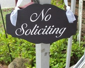 No Soliciting Sign Wood Vinyl Home Front Door Hanger Decor Stop Do Not Knock Ring Bell No Disturb Modern Elegant No Strangers Private Sign