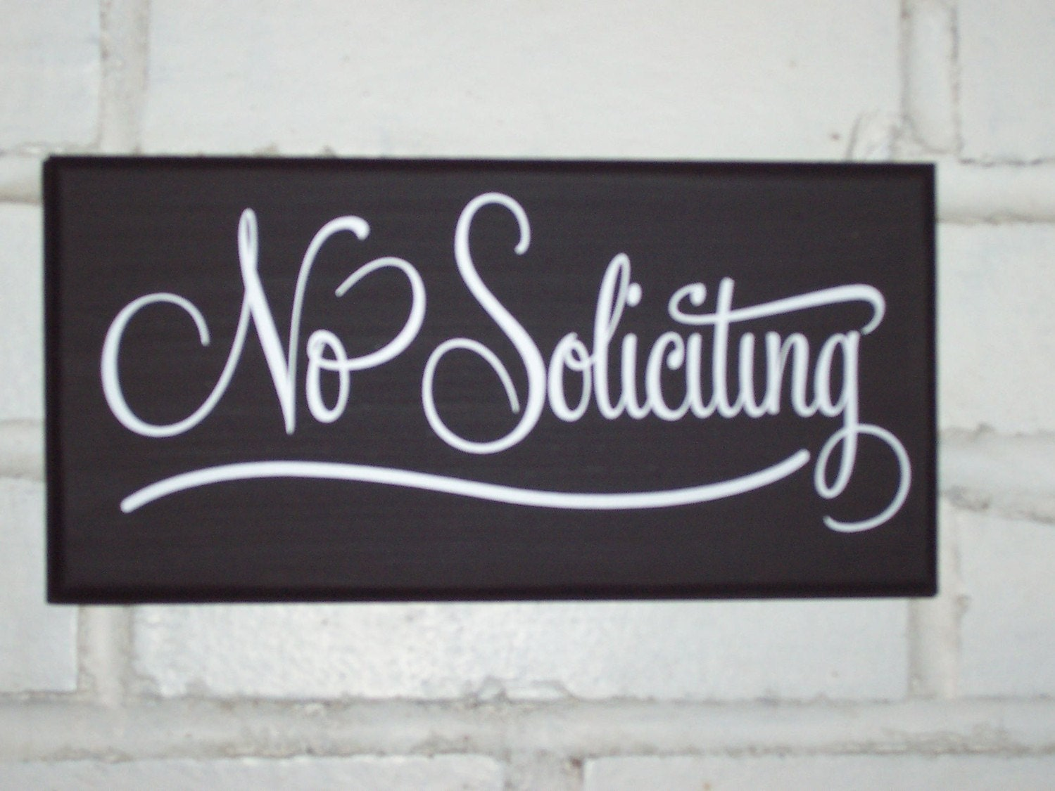 No Soliciting Retro Wood Vinyl Sign Home Decor Sign Outdoor