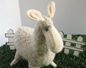 Felt Llama Soft Toy made from recycled wool sweaters
