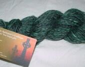 Handspun Wool Yarn - Mohair Blend - Mint Chocolate Chip - 154 yds.