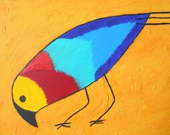 Colorful Bird Original Painting