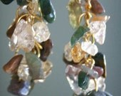 RESERVED for Mousewings - Antarctic moss dangling earring set
