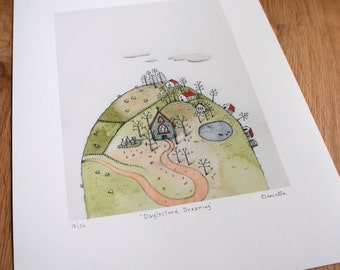 Dayelsford daydreaming - Giclee Print of original illustration (unframed)