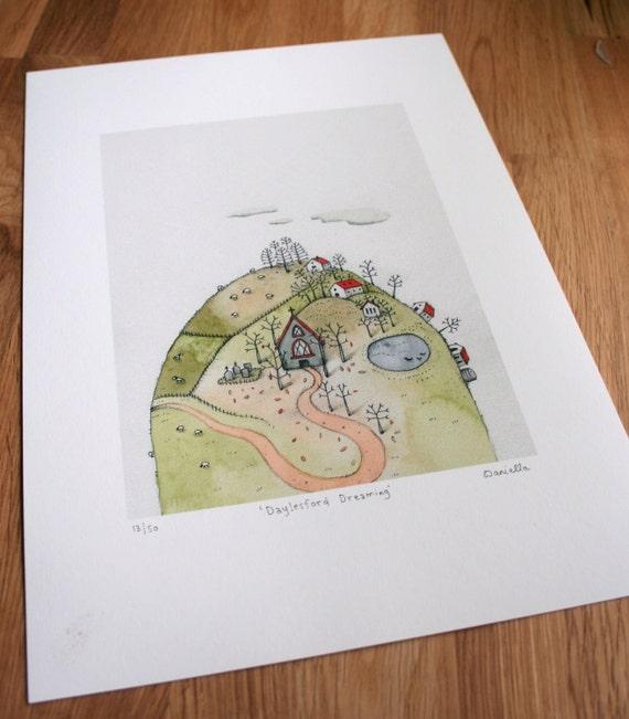 Dayelsford daydreaming - Giclee Print of original illustration (unframed)