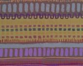 SALE 1 Yard, Japanese Fabric, Keiko Goke, Cheerful Stripe Olive Blue, Cotton Print