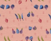 Japanese Fabric, Kyo Yasai Vegetables on Peach  - Japanese Fabric Half Yard