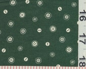 40% off, use DESTASH40AUG13. Japanese Fabric - Small Buttons Green Cotton, FQ