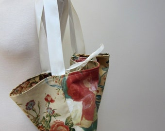 Autumnal Flower Chintz Flower Market Bag