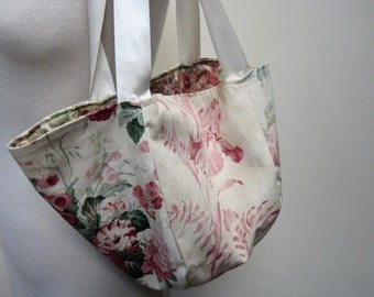 Ivory Chintz Flower Market Bag