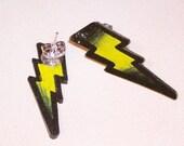petite yellow lightning bolt stud earrings