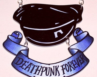 turbonegro deathpunk forever necklace