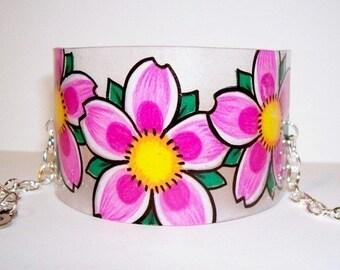 cherry blossom cuff bracelet
