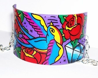 sparrows roses and diamonds cuff bracelet