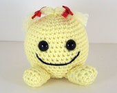 Reserved for D. McMullen        Crochet amigurumi Stuffed Happy Face Plush  -  Smiley Face