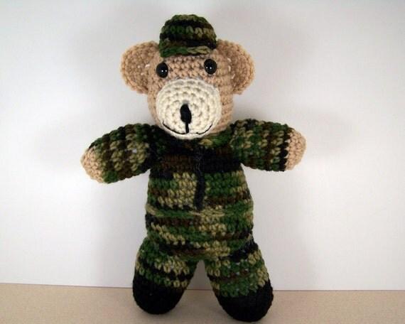 Crochet Amigurumi bear - Soldier Bear