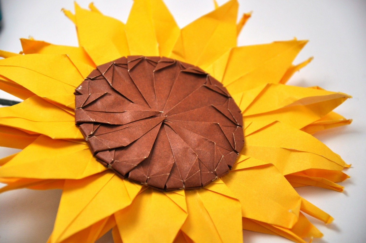 Paper Sunflower made from Origami Cranes