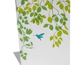 Hummingbird letterpress notecard set