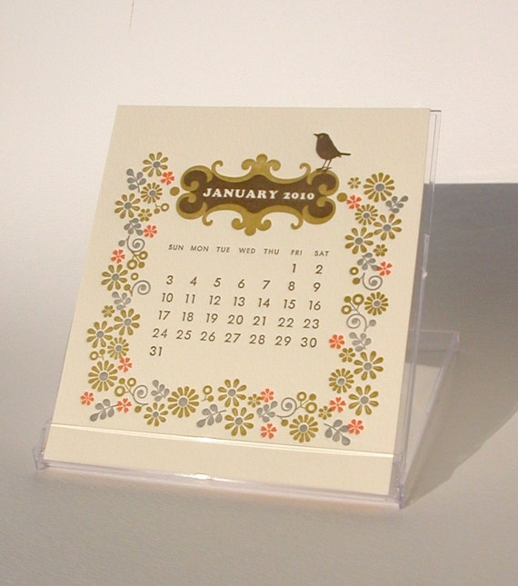 2010 letterpress and silkscreen calendar