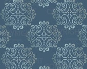 Large WALL DAMASK STENCIL pattern faux mural 1012