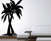 """Coconut Palm Trees Forest Large Vinyl Wall Art Decal Removable Sticker size 72""""W x 44""""H. Many colors available. N1501"""