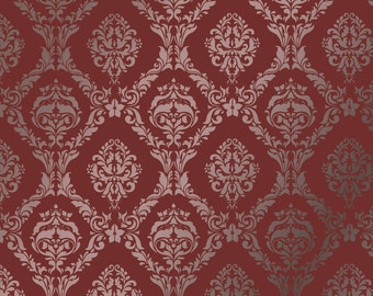 Large Wall Damask STENCIL Pattern FAUX  MURAL 1007