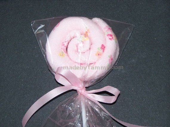 Baby Shower Favors - Baby Lollipop Washcloth