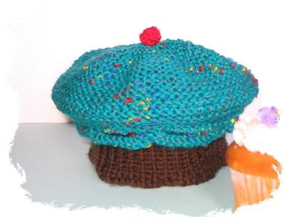 Knitting Pattern Cupcake Beanie : Unavailable Listing on Etsy