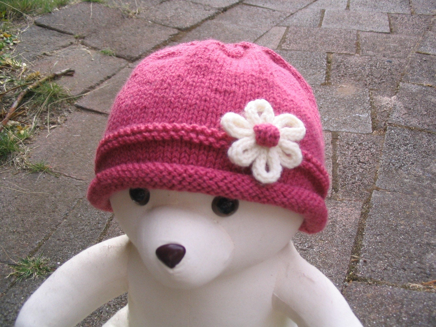 Flapper Style Baby Hat Knitting Pattern PDF baby toddler