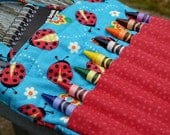 Crayon Activity Bag Ladybugs Blue and Red