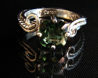 Swish - Green Topaz gremstone ring