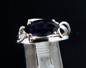 Dewberry Tease -  Blue Iolite ring