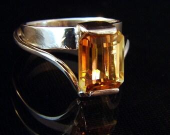 Brandy Edge - Brandy Citrine ring