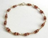 RESERVED - Citrine and Garnet Mala Bracelet