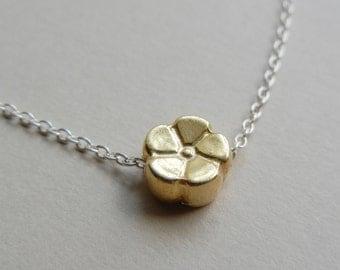 Tiny Golden Blossom Necklace