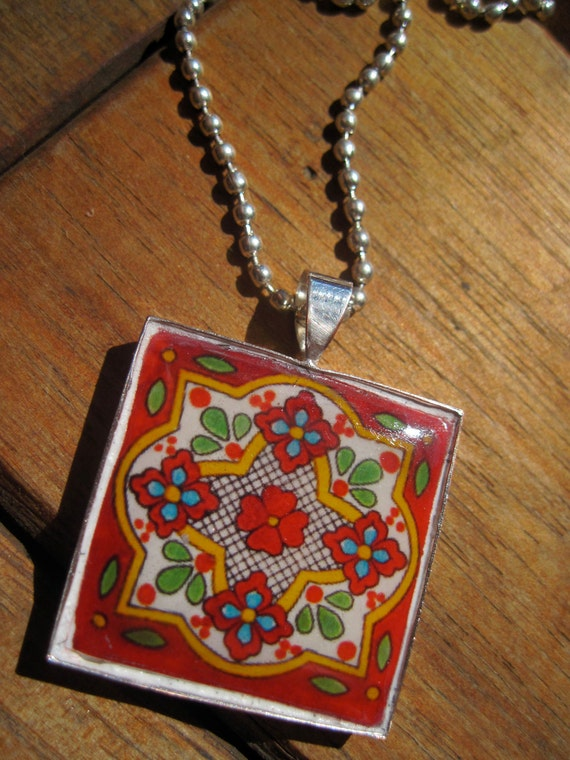 cinco jewelry mexican tile talavera pendant cinco de mayo by 2834