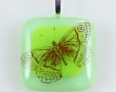 Butterfly Fused Glass Pendant