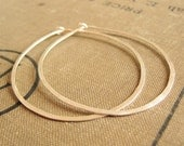 Large Hoops in Sterling Silver