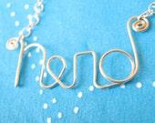 Nerd Necklace in Sterling Silver
