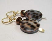 Tiger Cowie Shell and Crystal Earrings  SALE SALE SALE