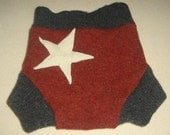Wool Soaker - L - Felted Recycled Wool Star Soaker