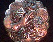 Vintage Buttons Pin - Silver, Round - RESERVED for raquelzinha