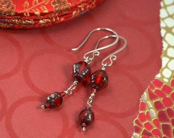 Fire-y Red Dangles