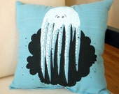 Octopus's Accident Pillow in Blue