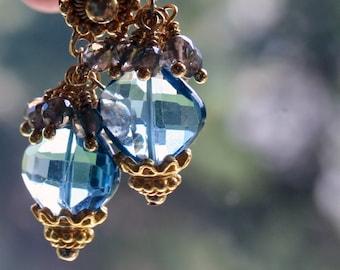 ON SALE: London Blue Topaz Earrings, Post Earrings, Gemstone Post Earrings,Romantic Earrings,Gift for Girlfriend, Gift for Wife