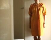 W . dress in saffron linen by PAMELATANG