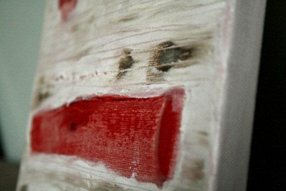 ORIGINAL ART red n white