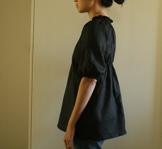 WOMENS LINEN BLOUSE / shirt / top / womens linen clothing / maternity / etsy australia / handmade by pamelatang