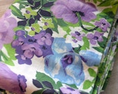 Big and bold vintage cotton fabric - yards of floral