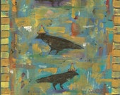 Notecards - 3 Crows Print of My Own Acrylic Painting